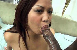 Japanese cockslut slurpin on chocolate..