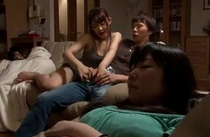 Asian stashing hand job after dinner..