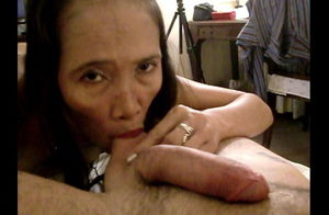 Mature furry chinese Emily exhibs her..