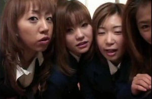 4 asian college girls contest for warm..