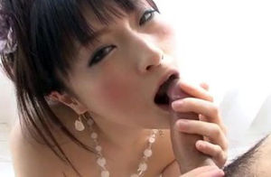Rika Sonohara absorbs a thick weenie..
