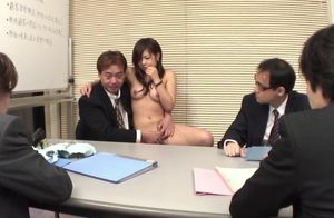 Japanese lovely stunner interviews for..