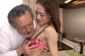 Asian Dad has intercourse with chick
