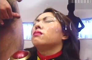 Facial cumshot Money-shots Asian Gal