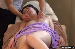 Asian lady, aya kisaki  the massage,..