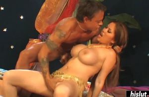Exotic mummy gets a throatful of..