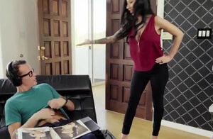 FILF - Lily Lane catches StepSon..