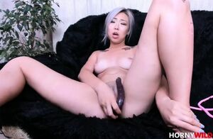 Chinese First-timer Unloads On Her..
