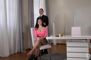 Huge-chested Spanish Assistant Nekane..
